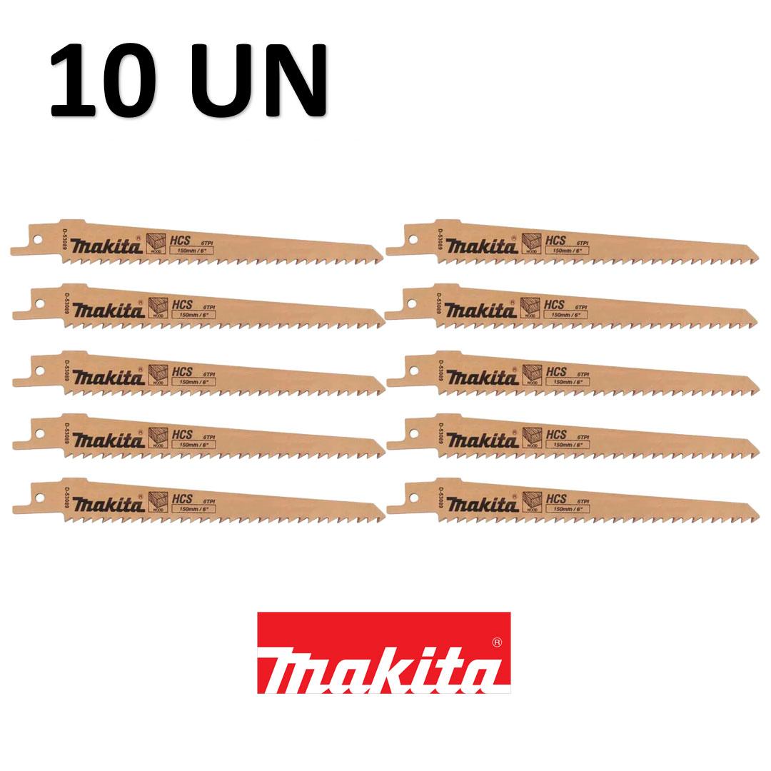 Kit com 10 Laminas Serra Sabre P/ Madeira Makita 6