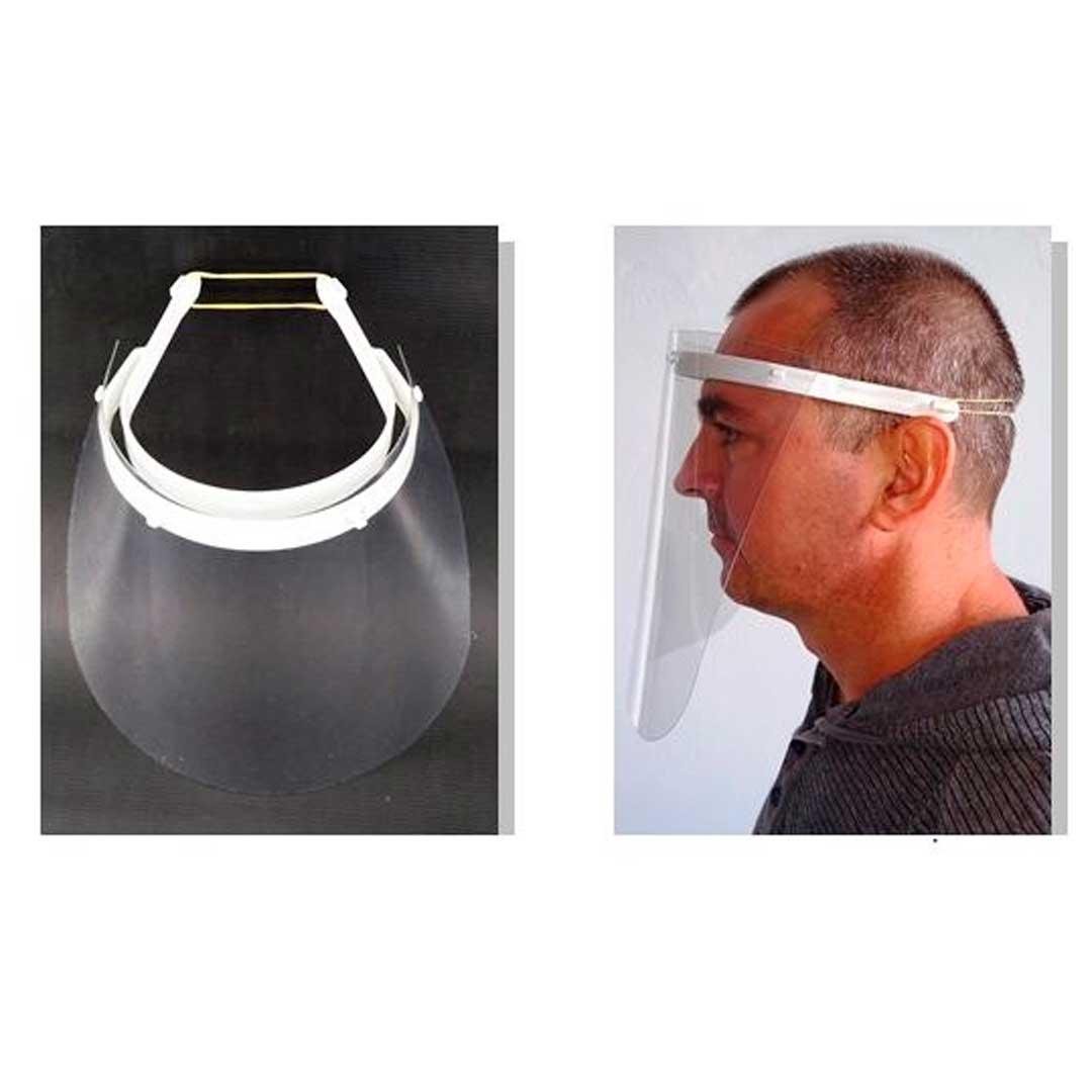Kit Com 10 Protetor Facial Incolor 20cm Simples