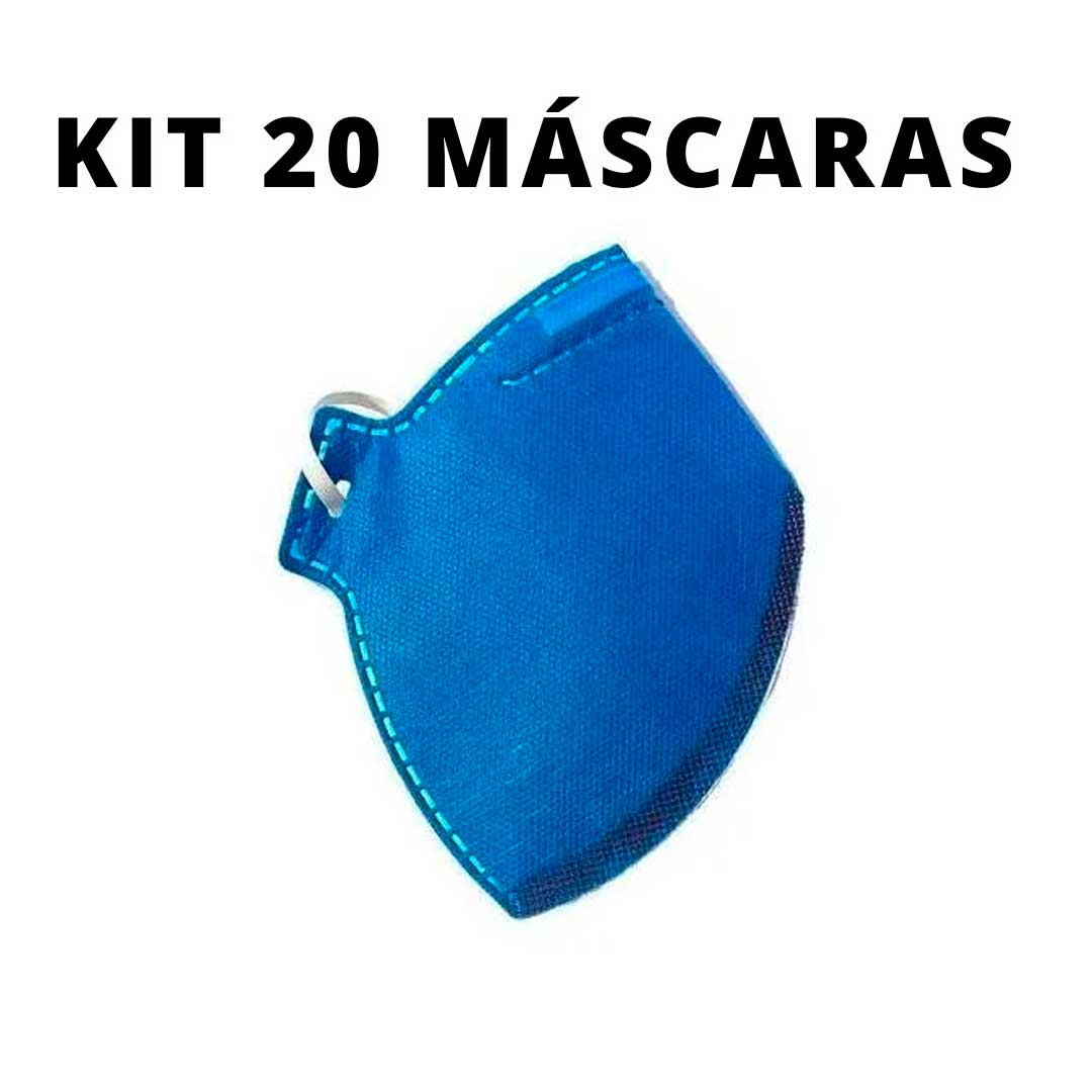 Kit com 20 Máscara Respirador Pff2 S/ Válvula Tipo N95 Super Proteção
