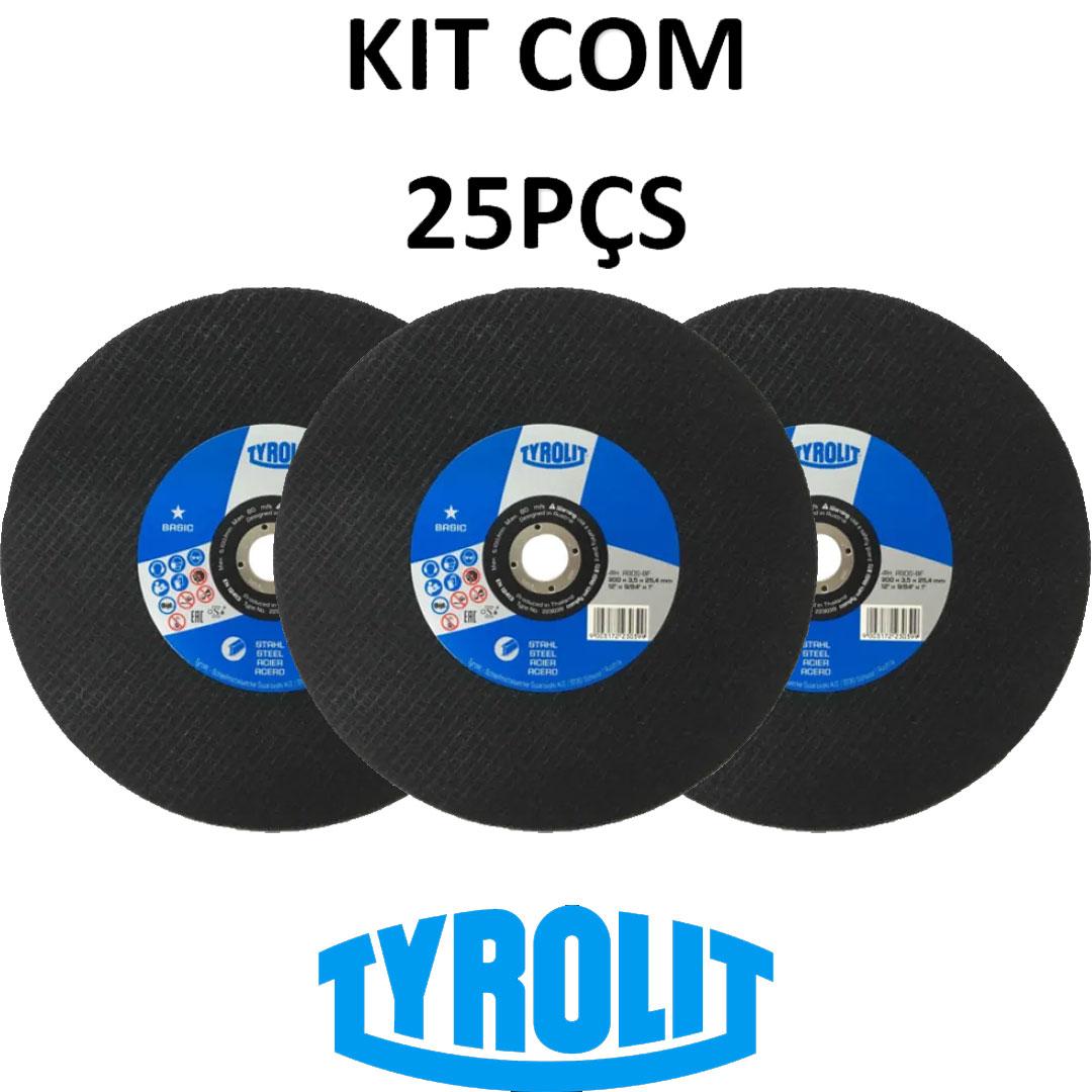 Kit com 25 Discos De Corte 12
