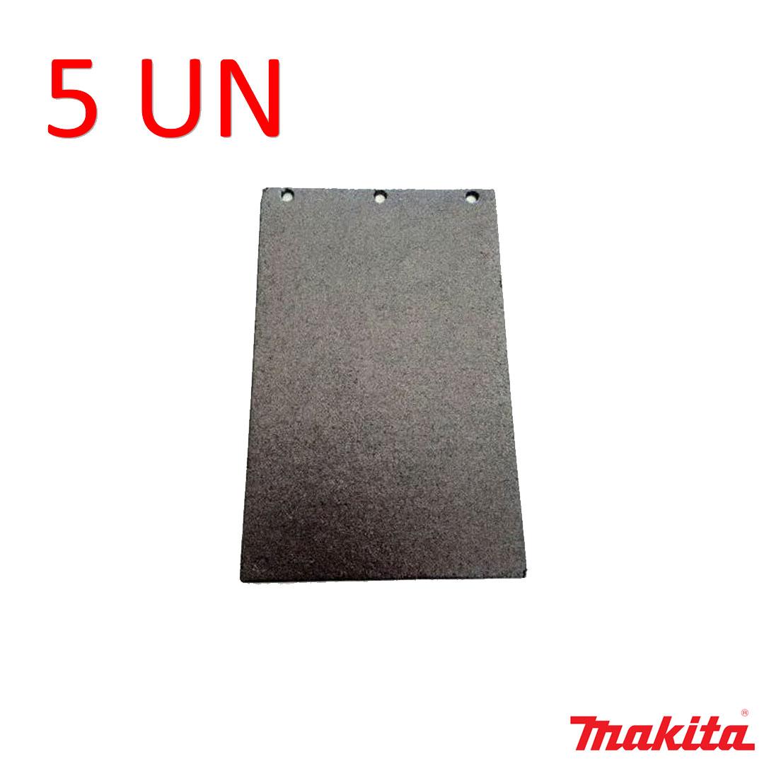Kit com 5 Bases Feltro Grafitado Lixadeira Cinta 105x165mm - Makita