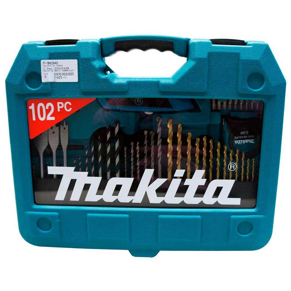 Kit De Acessórios Brocas, Soquetes, Bits 102 Peças P-90342 Makita
