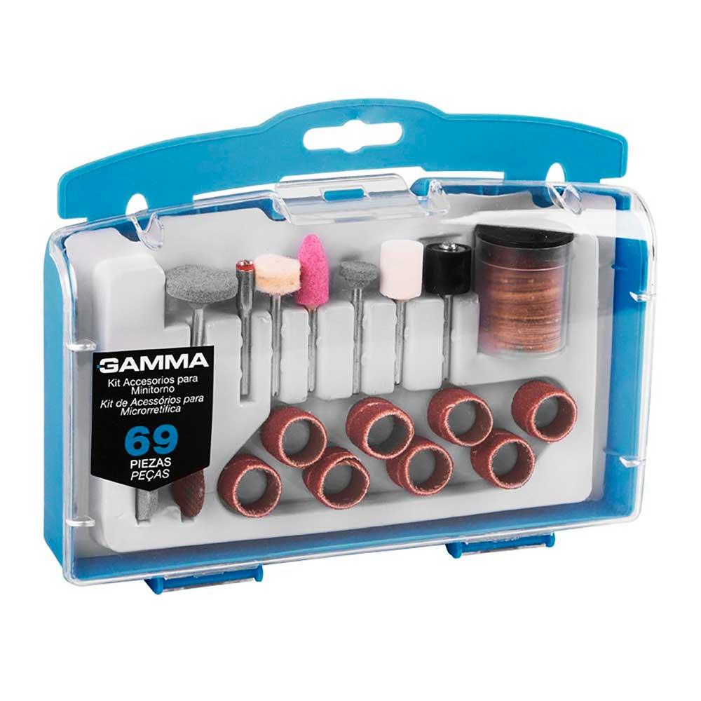 Kit de Acessórios para Microrretífica com 69 Peças - GAMMA-G19504AC