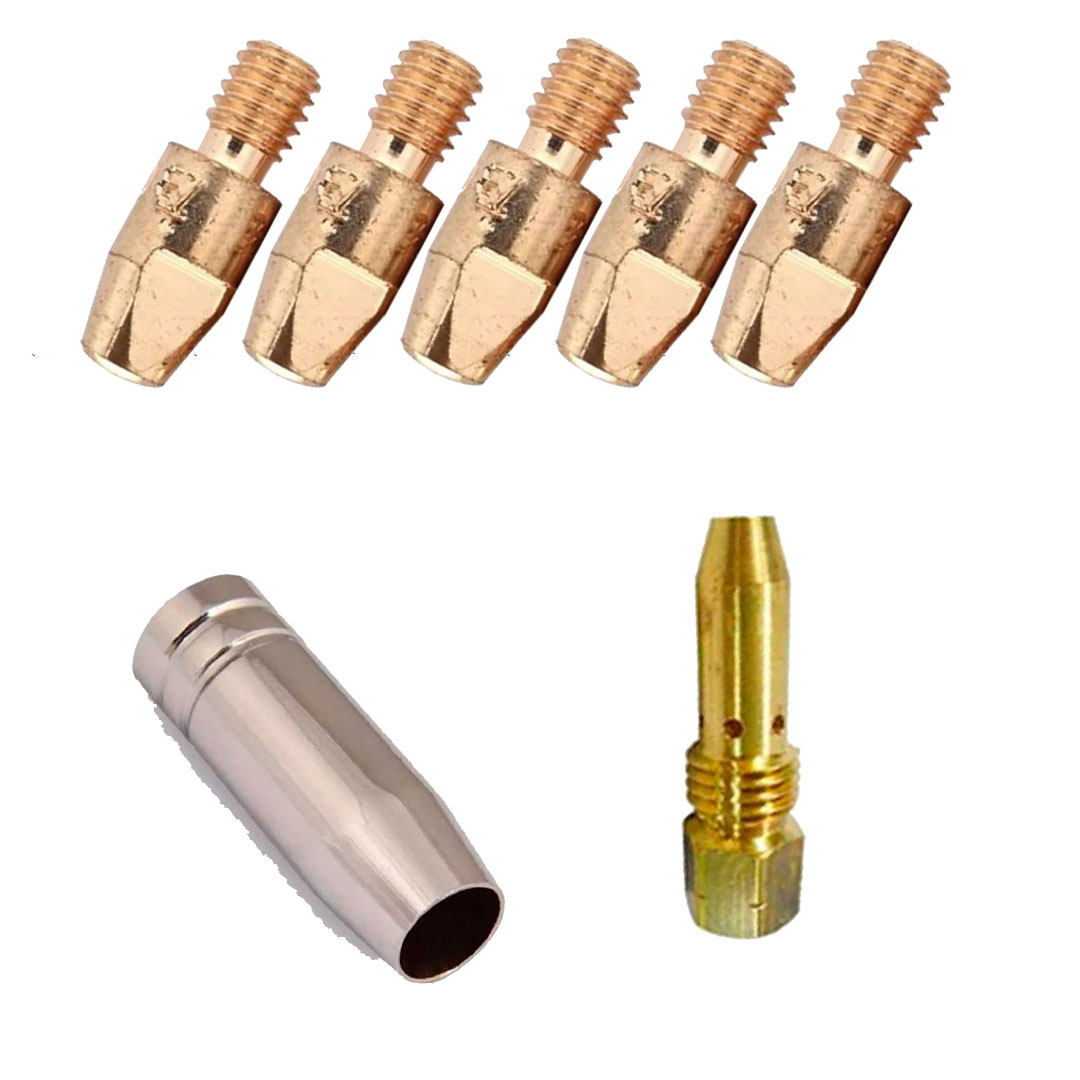 Kit de Consumíveis para Arame 0.8mm Para Tochas TBI 153/253