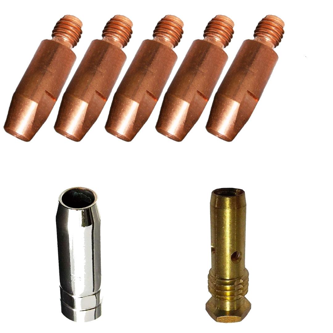 Kit de Consumíveis para Arame 0.8mm Para Tochas TBI 353/453/463