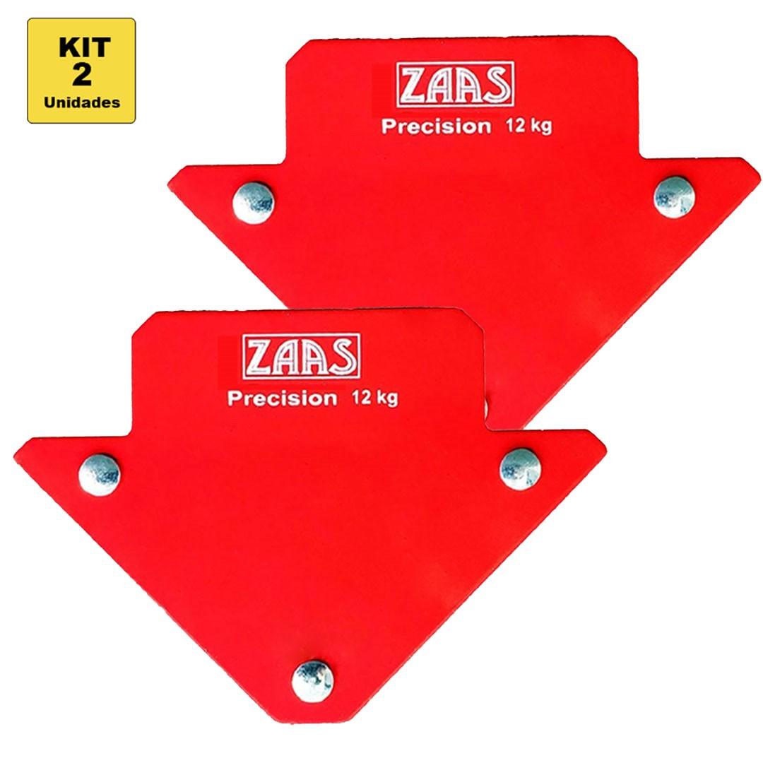 Kit Esquadro Magnético Soldador Serralheiro - 2 unid. 12kg ZAAS Precision 375,0001