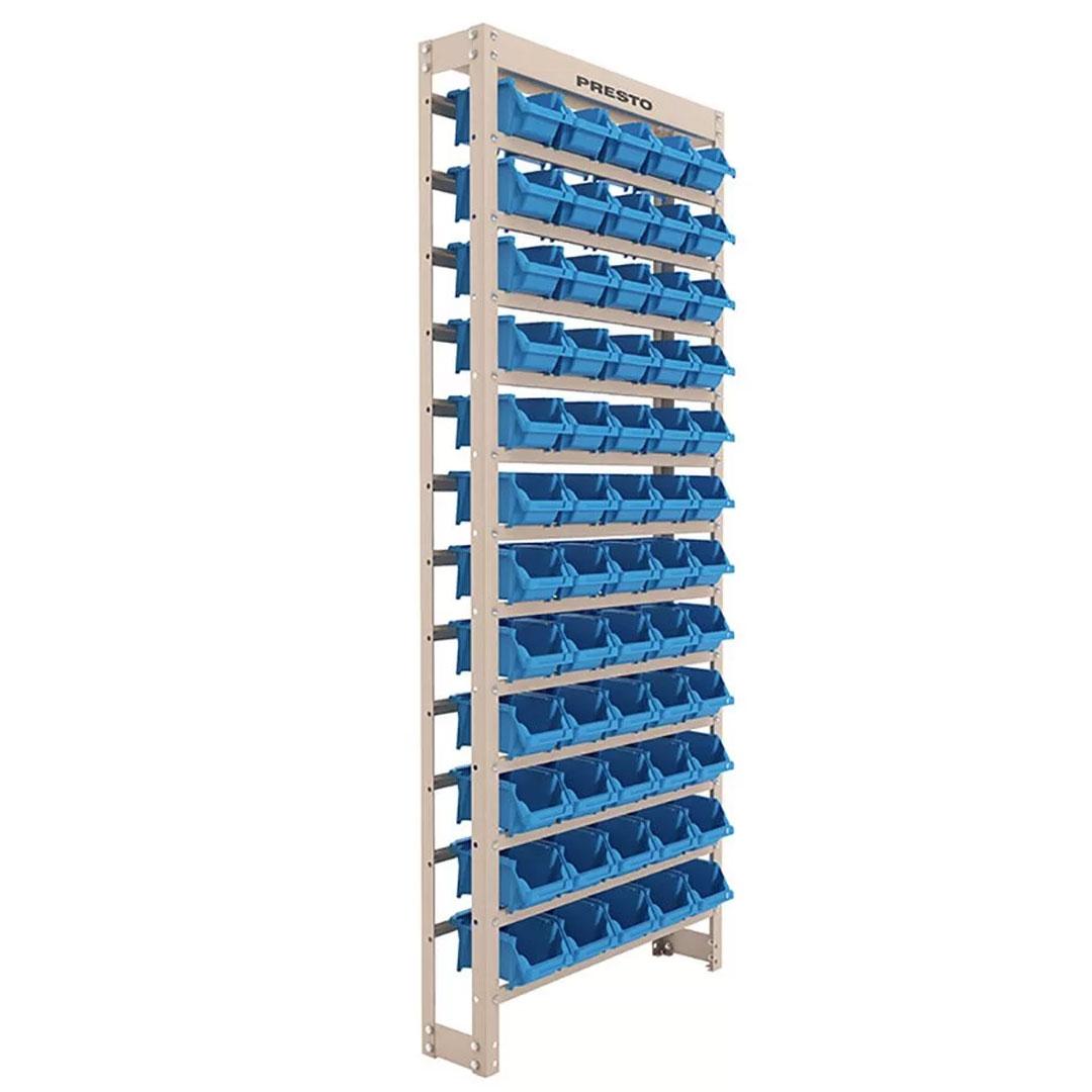 Kit Estante Gaveteiro Organizador com 60 Gavetas Empilháveis Nr. 3 Azul
