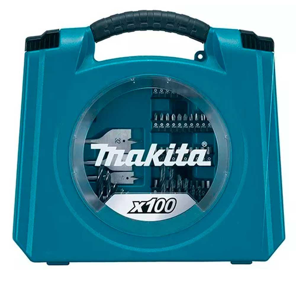 Kit Jogo De Ferramentas E Acessórios 100 Pçs  D-42036 Makita