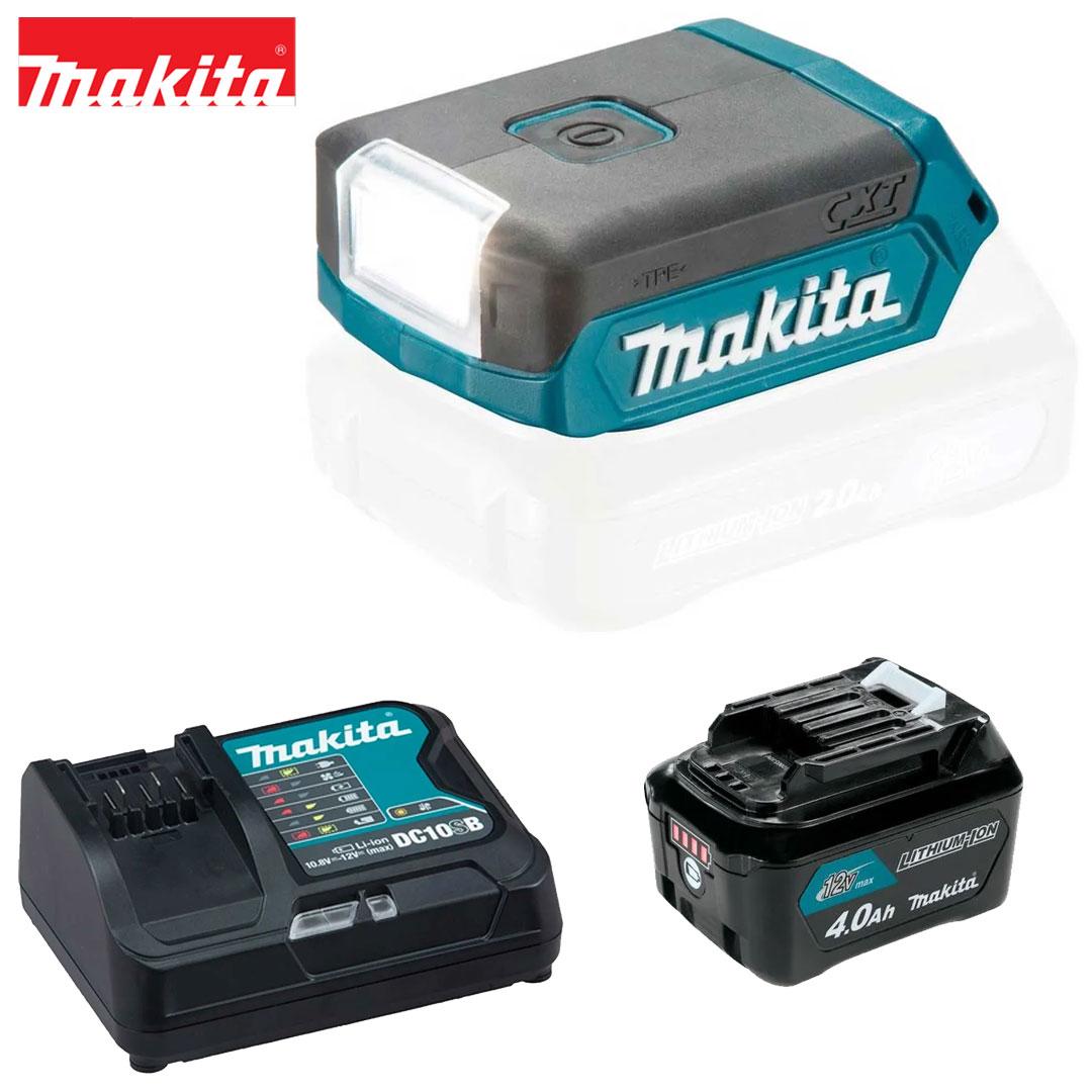 Kit Lanterna 12V Cxt Led ML103 + Bateria 4AH BL1041B + Carregador DC10SB Bivolt Makita