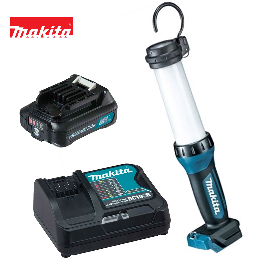 Kit Lanterna 12V Cxt Led ML104 + Bateria 2AH BL1021B + Carregador DC10SB Bivolt - Makita