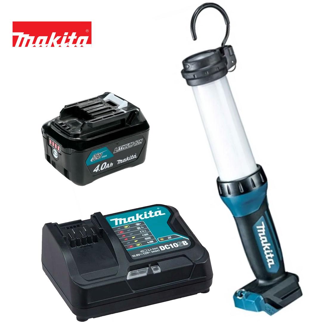 Kit Lanterna 12V Cxt Led ML104 + Bateria 4AH BL1041B + Carregador DC10SB Bivolt - Makita