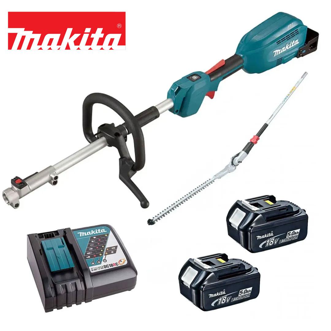 Kit Multifuncional 18V DUX18Z + Aparador Cerva Viva + 2 Bat 5AH BL1850B + Carregador DC18RC Bivolt  - Makita
