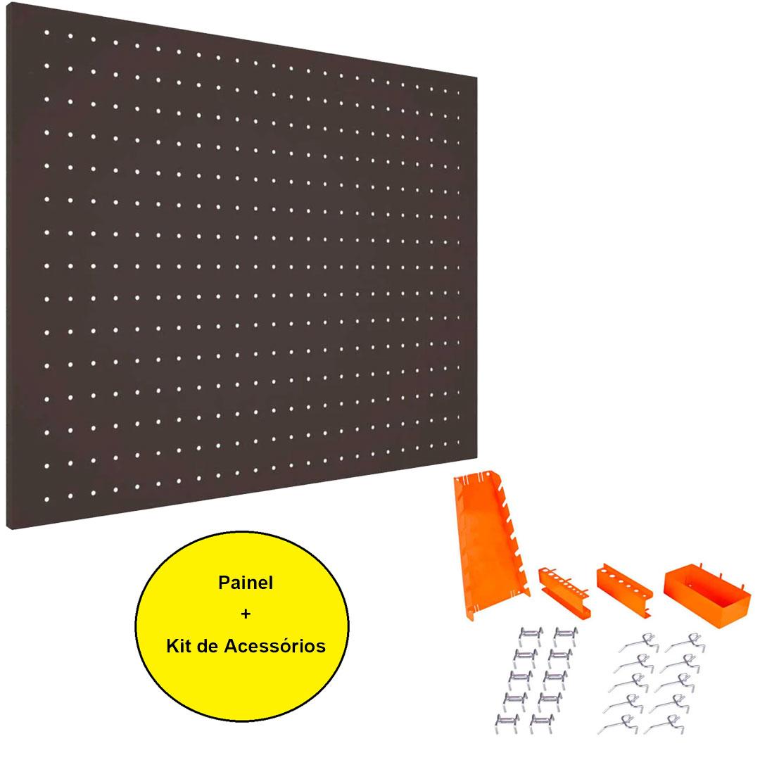 Kit Painel Para Ferramentas Médio 725 X 575 + Acessorios Painel Para Ferramentas Presto 40404