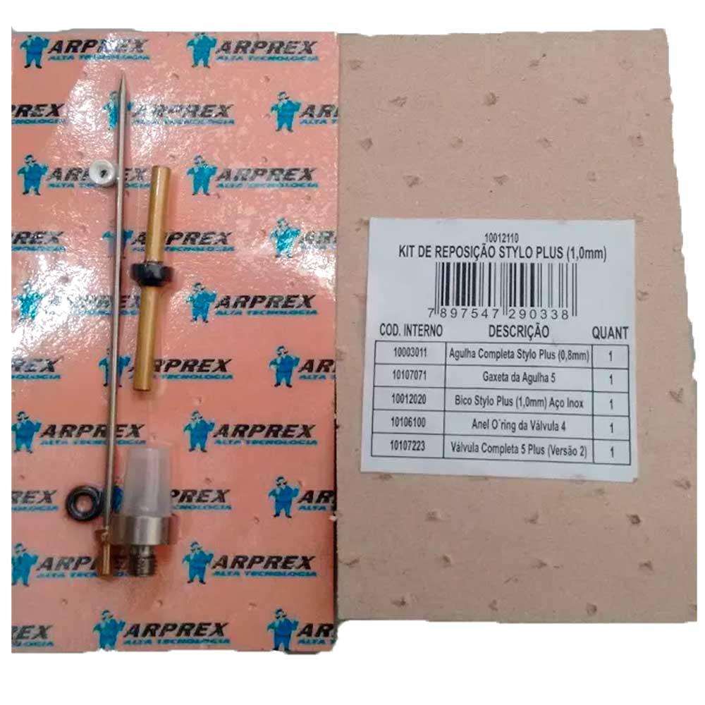 Kit Reparo Da Pistola Arprex Stylo Plus Bico 1.0 Mm