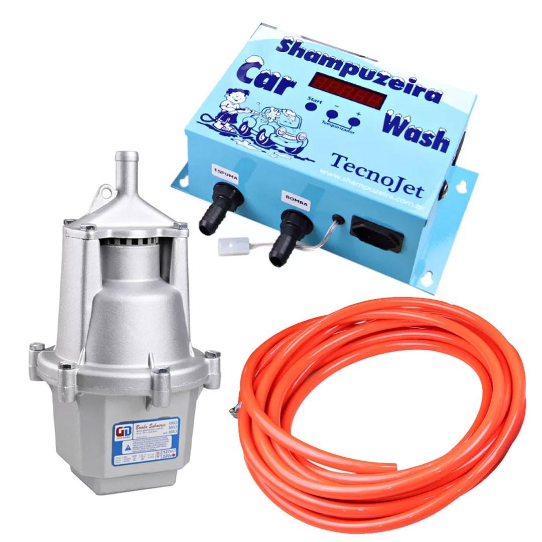 Kit Shampoozeira Eletrônica Completa Car Wash Lava Rápido TECNOJET 220V