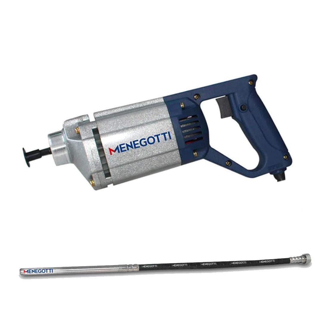 Kit Vibrador Concreto Portatil 1000w MPV 220V + Mangote 1,2mts X 35mm MPV Menegotti