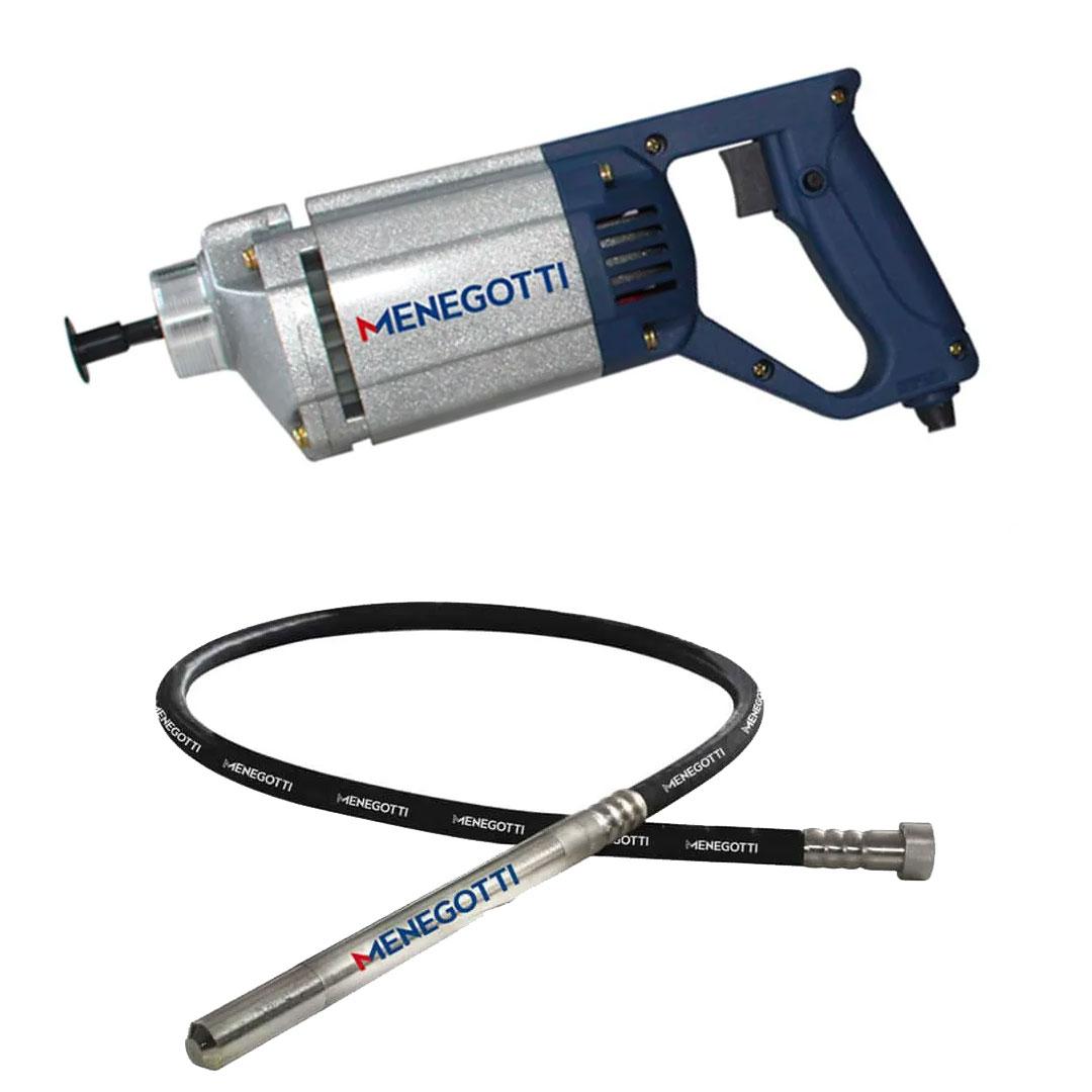 Kit Vibrador Concreto Portatil 1000w MPV 220V + Mangote 2,5mts X 35mm MPV Menegotti