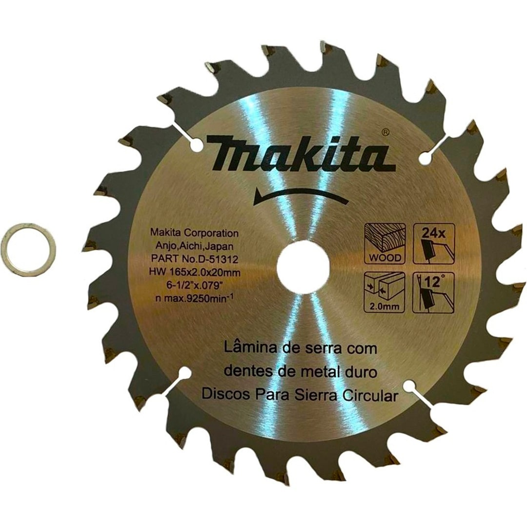 Lamina de Serra Circular 165mm (6.1/2