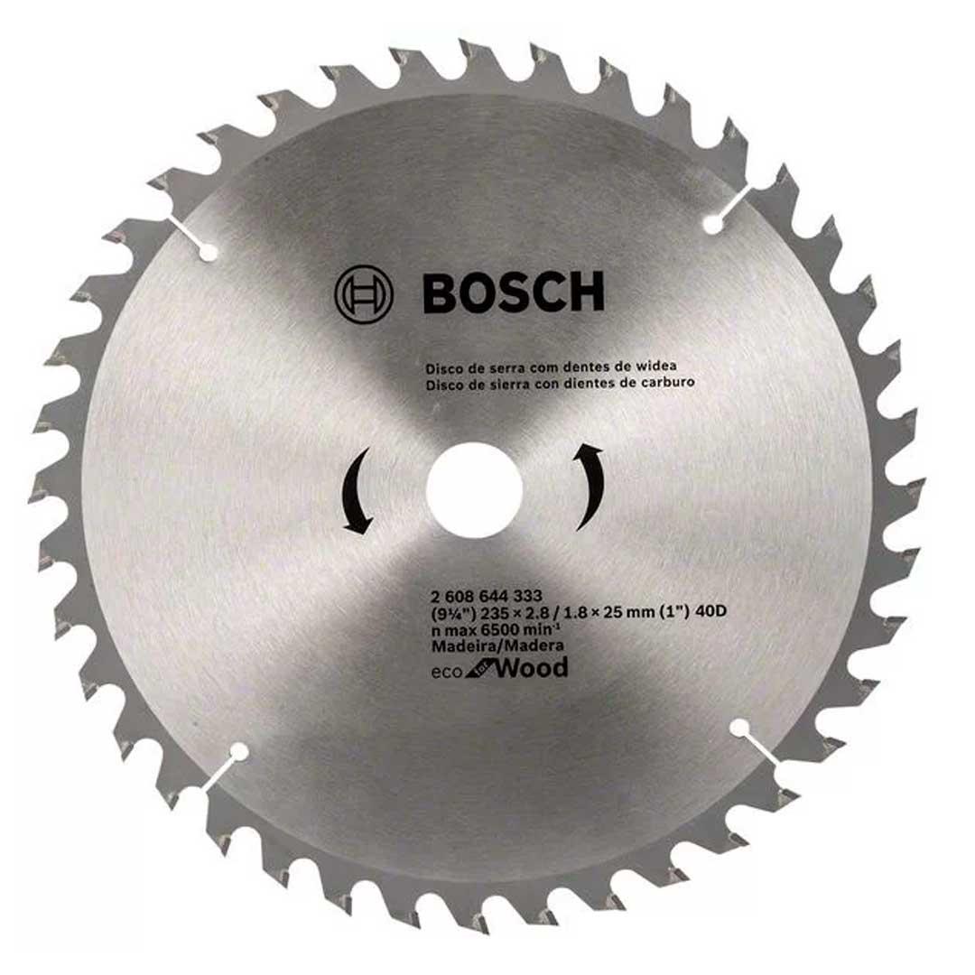 Disco De Serra Circular 235mm 9-1/4 40d ECO Bosch 2608644333