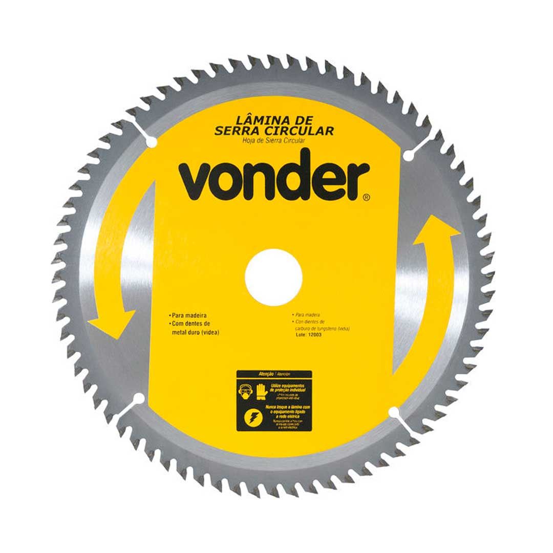 """Disco De Serra Circular 450mm (18"""") 60d-Vonder"""