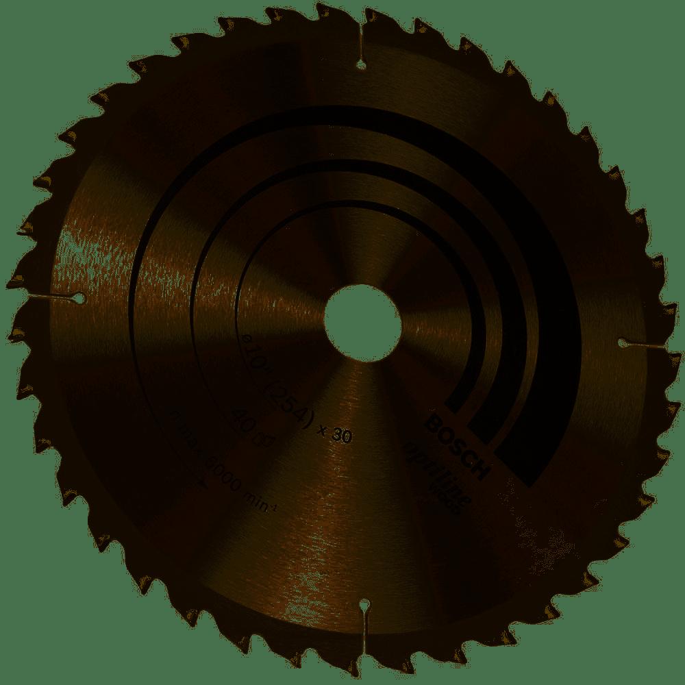 Disco Serra Circular 250mm 10' 40d Optiline 2608640907-Bosch