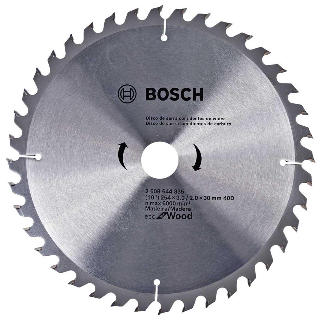 """Disco Serra Circular 255mm 10"""" 40d Eco 2608644335-Bosch"""