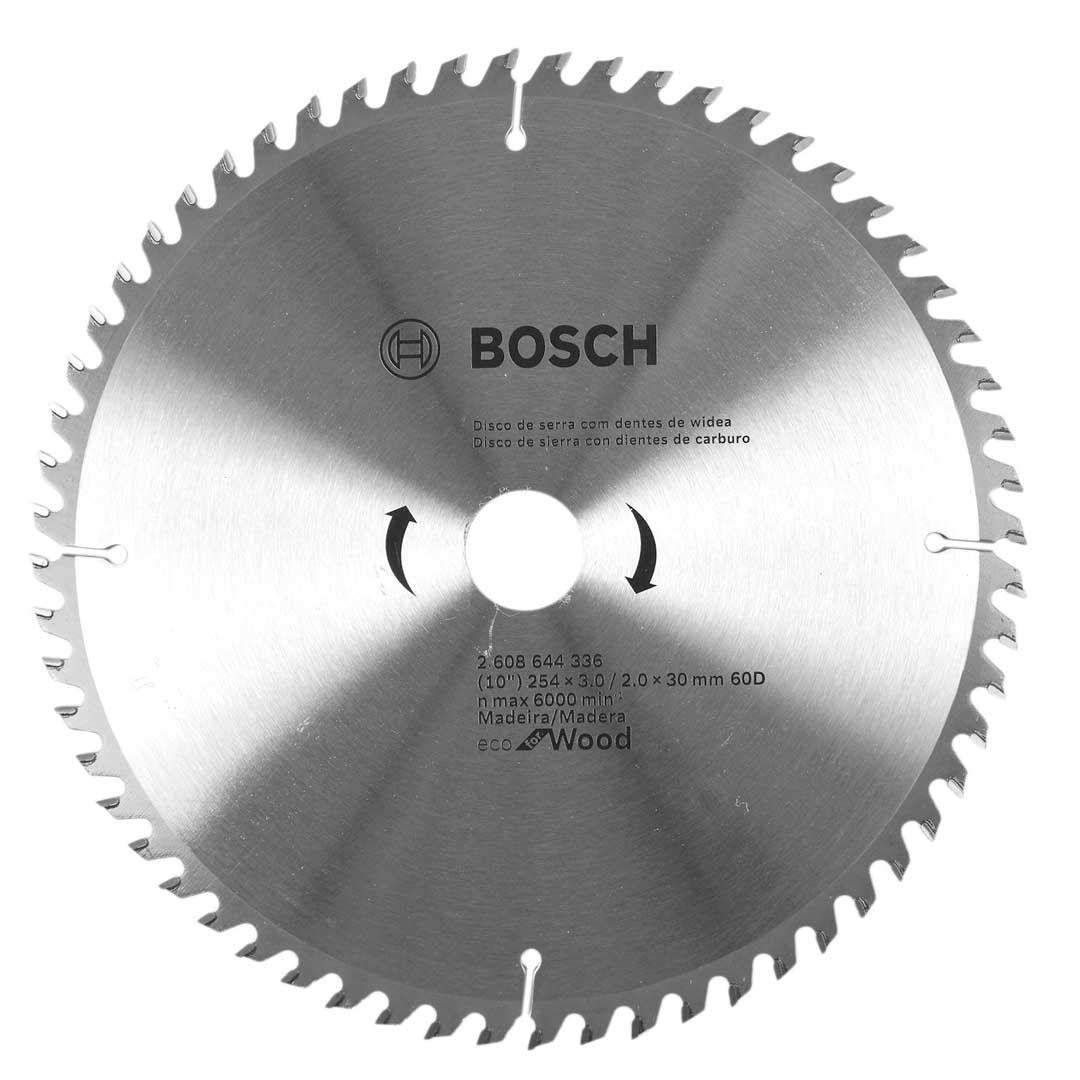 """Disco Serra Circular 255mm 10"""" 60d ECO 2608644336-Bosch"""