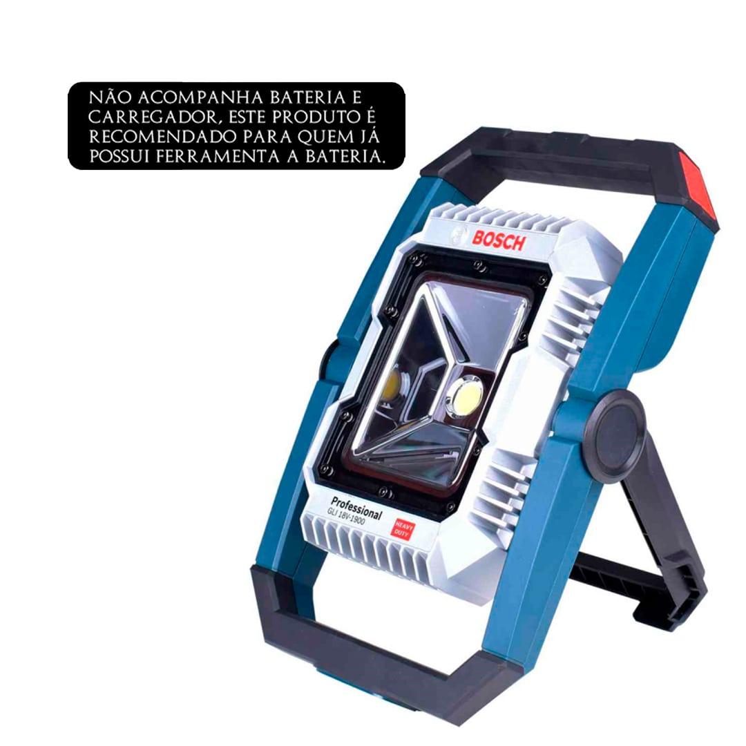 Lanterna A Bateria 18V GLI 18V-1900 Bosch 0601446400