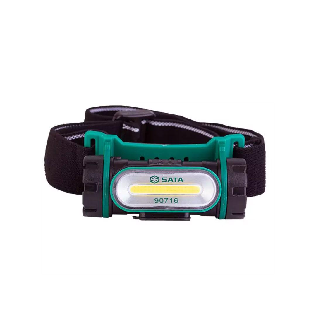 Lanterna para Cabeça Recarregável 150 Lumens com Carregador ST90716 SATA