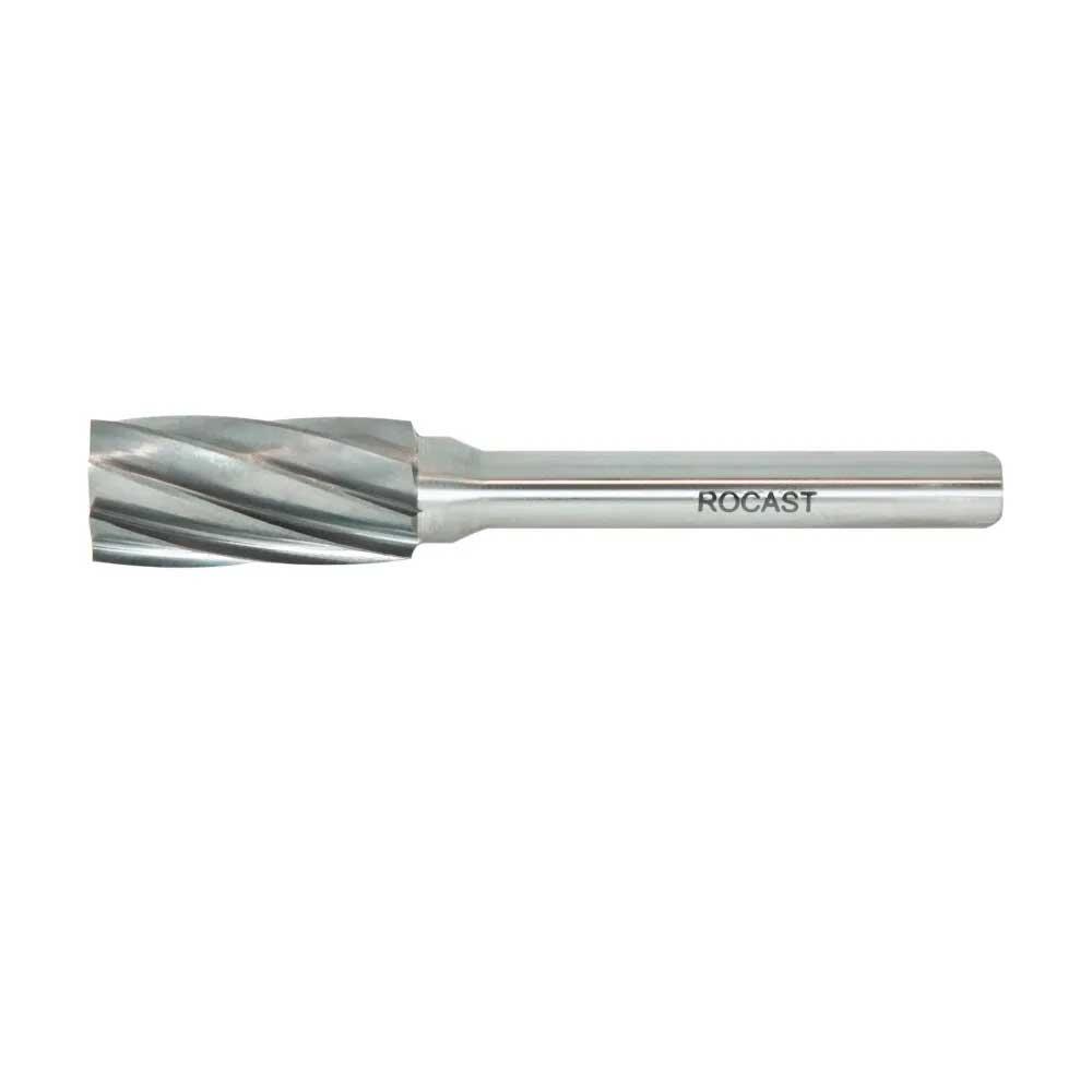 Lima Rotativa Cilindrica  10MM P/ Aluminio Haste 6MM - 45,0081- Rocast