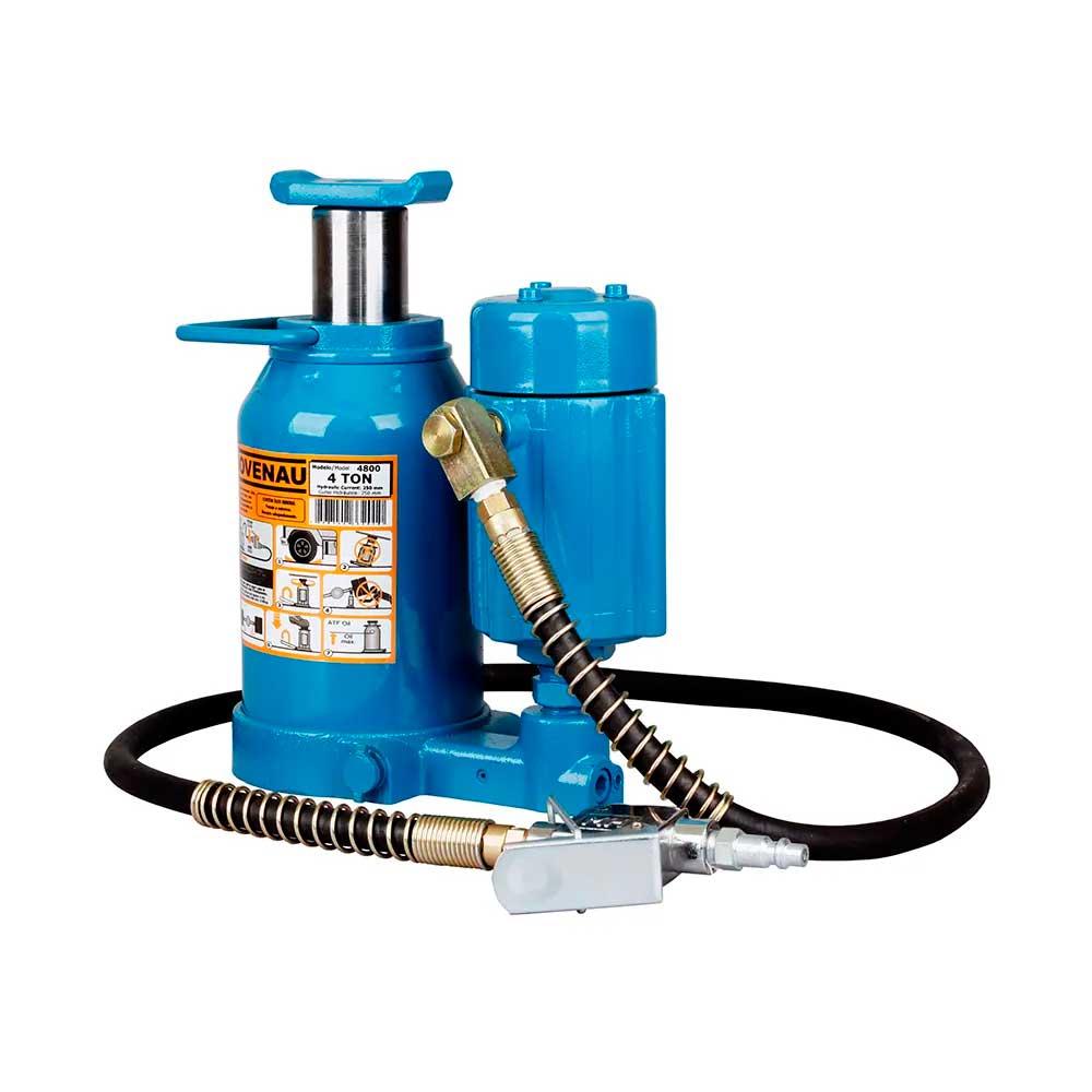 Macaco Hidráulico Garrafa 4t Hidropneumático 2 Estágios  MTP4 4800 - BOVENAU