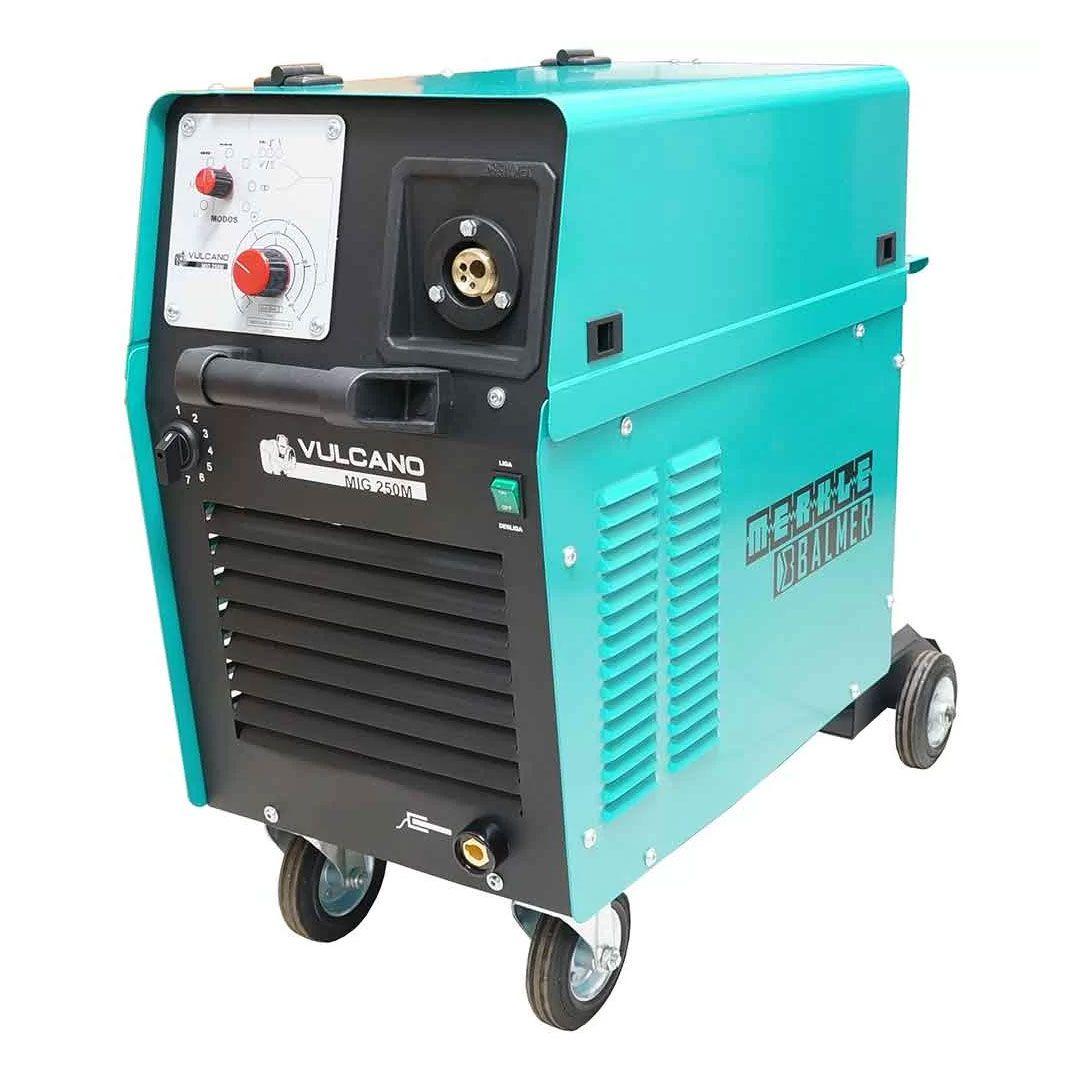 Maquina de Solda MIG MAG 225A Monofásica Vulcano MIG 250 Mono 220v