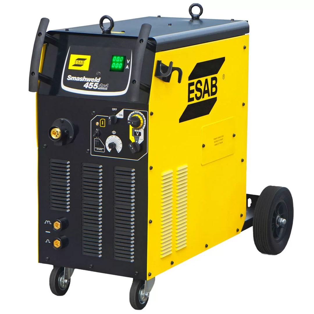 Máquina de Solda MIG/MAG ESAB Smashweld 455 4x4 400A 19,9kVA Trifásica 742523