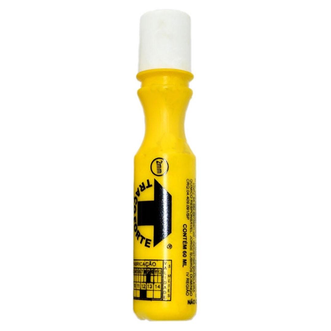 Marcador Industrial Amarelo Bico 2mm 60ml TRAÇO FORTE BADEN