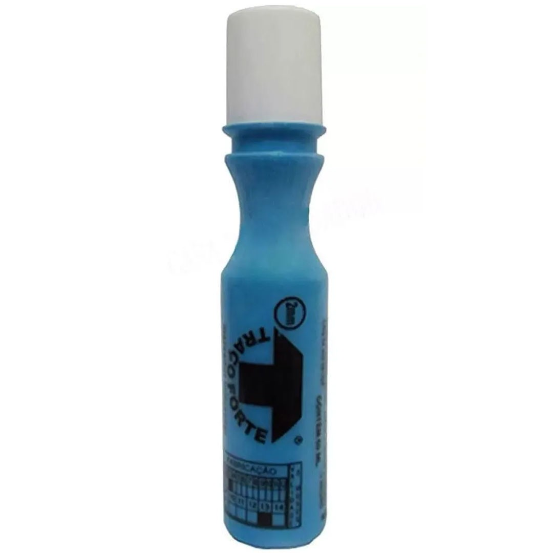 Marcador Industrial Azul Bico 2mm 60ml TRAÇO FORTE BADEN