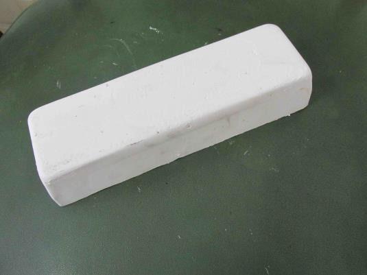 Massa Pedra Branca Abrasiva Polir E Lustrar Brilho