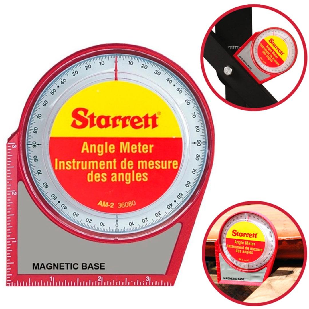 Medidor De Angulo Com Base Magnetica Starrett AM-2