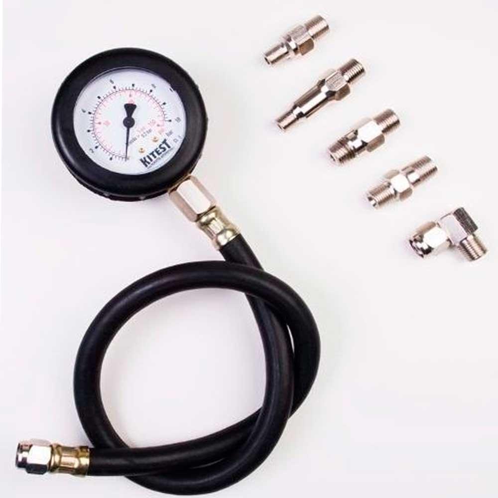 Medidor de Pressão de Óleo com 5 Adaptadores -KA-008/5 - Kitest