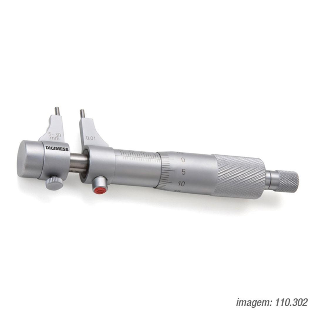 Micrometro Interno Tipo Paquímetro 5-30mm DIGIMESS 110.302 Graduação de 0,01mm