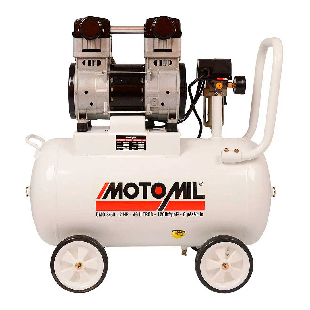Motocompressor Odontologico Motomil CMO 8/50 120 Lbs 2hp Mono 220v