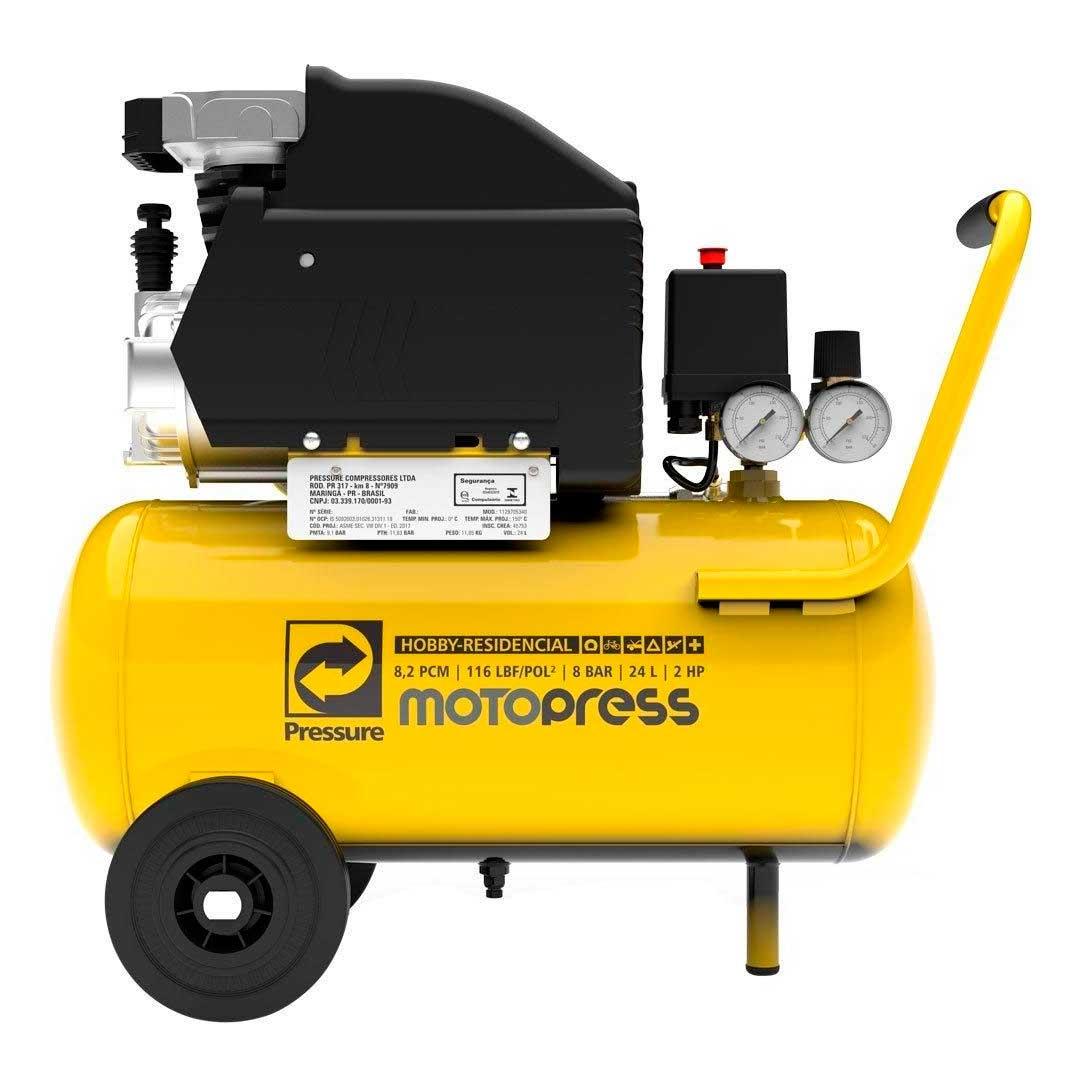 Motocompressor Pressure Motopress 8,2/25l 2hp Mono 220v