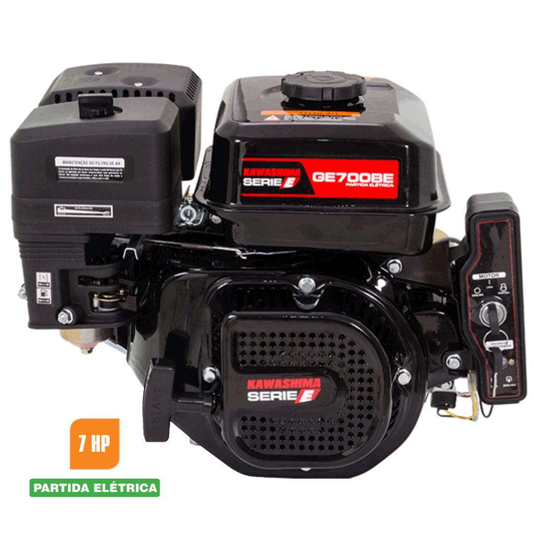 Motor Estacionário 7HP Gasolina 4T Partida Elétrica GE 700-BE KAWASHIMA 5670040