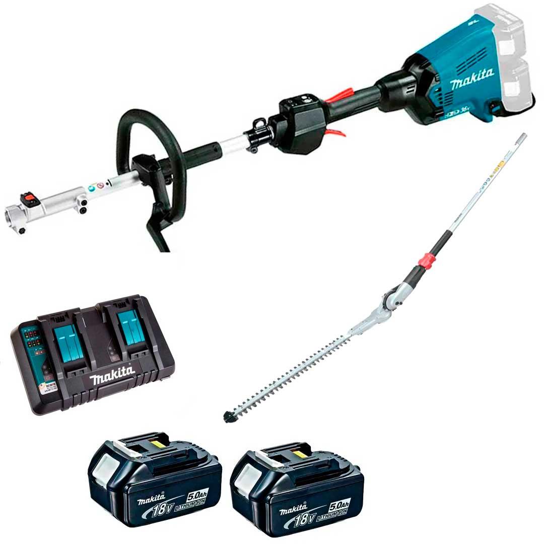 Multifuncional Bateria 36V DUX60Z + Aparador Cerva Viva + Baterias 5AH BL1850 + Carregador 127V Makita