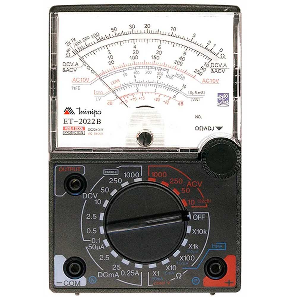 Multímetro Analógico AC DC 20KOhms Minipa ET-2022B