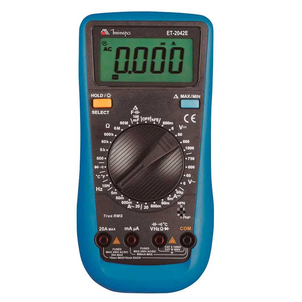 Multímetro Digital Tensão DC 600m a 1000V AC 6 a 750V Minipa ET-2042E