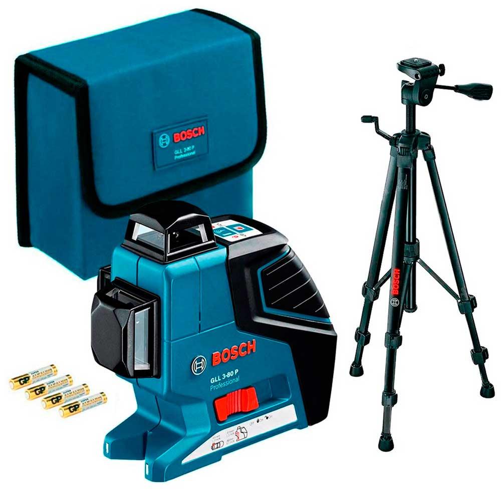 Nível Laser GLL 3-80 P 40 Metros com Tripé BT 150 - BOSCH-0601063306000