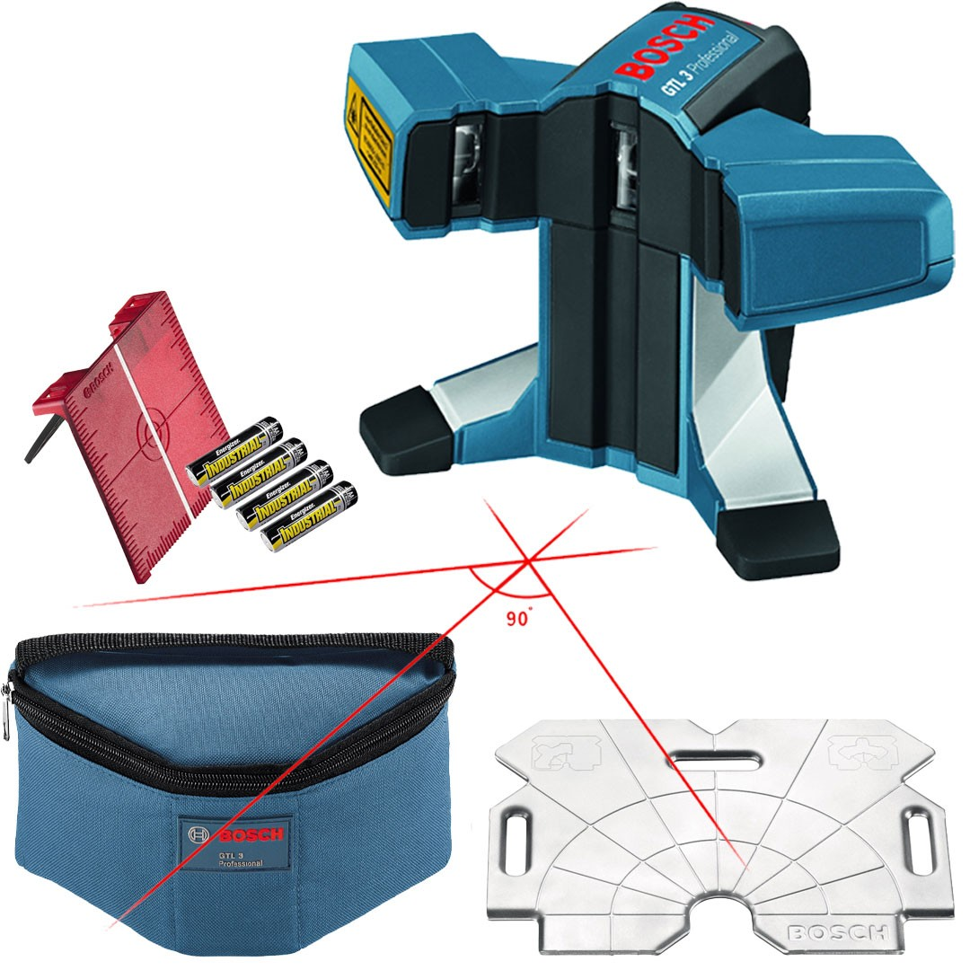 Nível Laser 20 Metros para Azulejos e Ladrilhos Profissional BOSCH GTL 3 0601015200