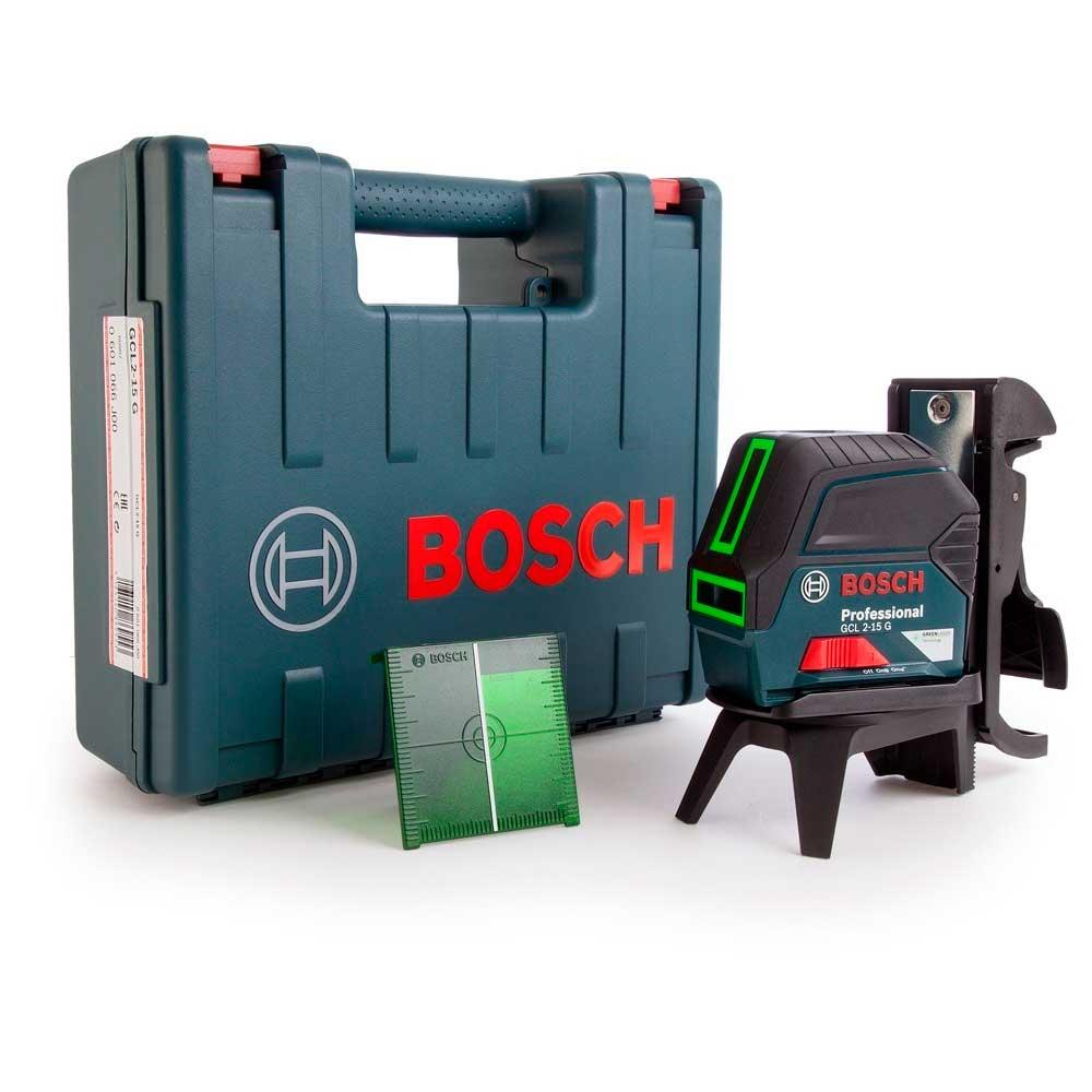 Nível Laser de Linhas Verdes 15m GCL 2-15 G Profissional - BOSCH-0601066J00