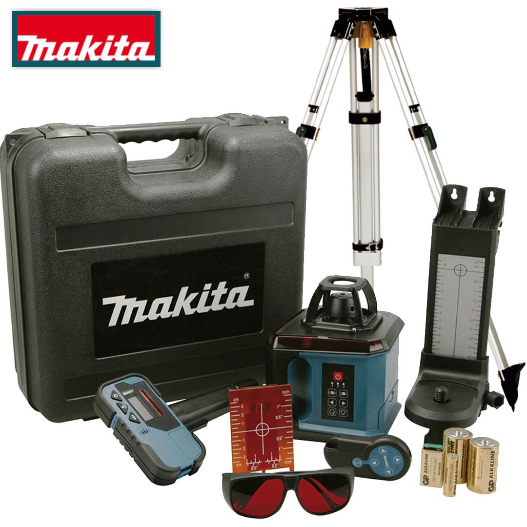 Nível Laser Rotativo 200MTS Makita SKR200Z + Tripé Tripé Profissional P-81088