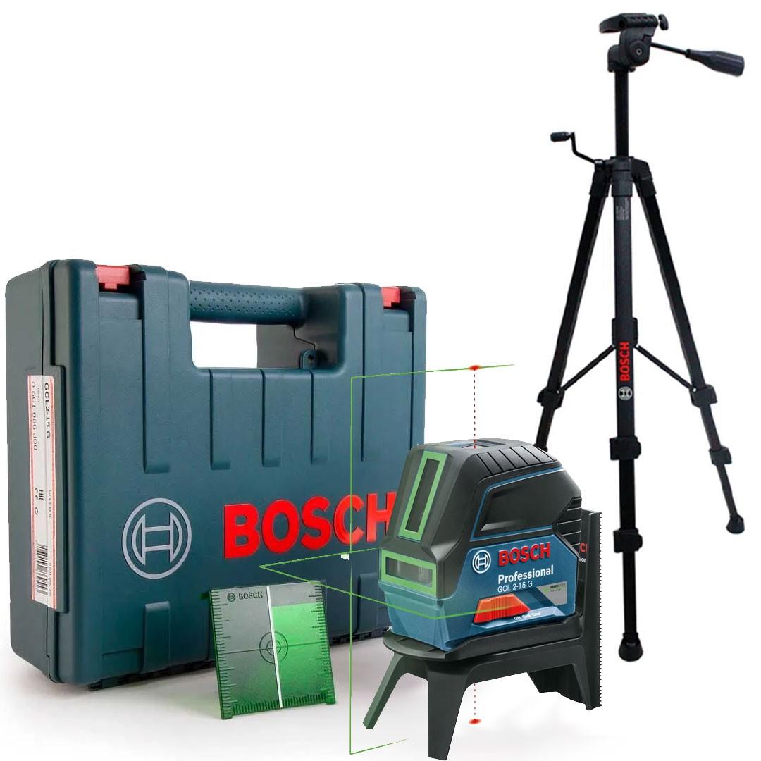 Nível Laser Verde 15m GCL 2-15 G + Tripé BT 150 Bosch Professional
